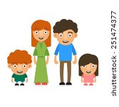 family illustration with two... | Shutterstock .eps vector #251474377