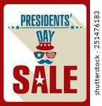 presidents day background retro ... | Shutterstock .eps vector #251476183