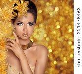 glamorous beauty fashion girl... | Shutterstock . vector #251478463