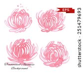 pink chrysanthemum illustration ... | Shutterstock .eps vector #251479693