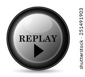 replay icon. internet button on ... | Shutterstock . vector #251491903