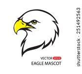 vector bald eagle or hawk head... | Shutterstock .eps vector #251492563