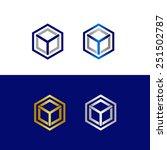 geometric letter y in polygon... | Shutterstock .eps vector #251502787