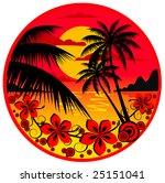palm island   Shutterstock .eps vector #25151041
