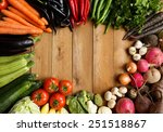 healthy organic vegetables on a ... | Shutterstock . vector #251518867