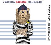 Illustration Of Lion Sailor