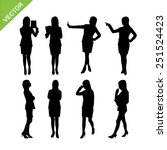 business woman silhouettes... | Shutterstock .eps vector #251524423