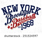 baseball  tee graphic | Shutterstock .eps vector #251524597