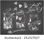 hand drawn love doodles on... | Shutterstock .eps vector #251527027