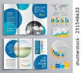 white brochure template design... | Shutterstock .eps vector #251548633