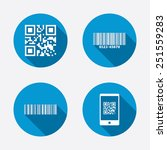 bar and qr code icons. scan... | Shutterstock .eps vector #251559283