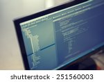 web site codes on computer... | Shutterstock . vector #251560003