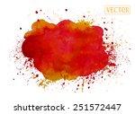 watercolor vector background.... | Shutterstock .eps vector #251572447