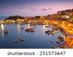evening in mikrolimano marina... | Shutterstock . vector #251573647