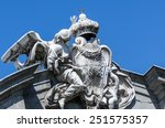 facade of a building with... | Shutterstock . vector #251575357
