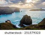 winters scene at mullion cove... | Shutterstock . vector #251579323
