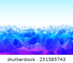 vector illustration of low poly ... | Shutterstock .eps vector #251585743