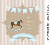 baby boy  baby shower... | Shutterstock .eps vector #251594197