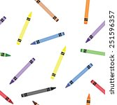 colorful crayons seamless... | Shutterstock .eps vector #251596357