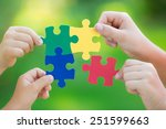 Multicolor Puzzles In Hands...