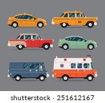vector set of various city... | Shutterstock .eps vector #251612167