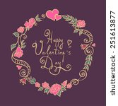 valentine flower wreath. vector ...   Shutterstock .eps vector #251613877
