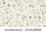 music seamless pattern freehand ... | Shutterstock .eps vector #251618083