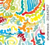 hand painted colorful scrolls | Shutterstock .eps vector #251642917