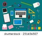 flat multicolored design.... | Shutterstock .eps vector #251656507