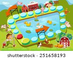 illustration of a boardgame... | Shutterstock .eps vector #251658193