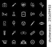 medical line icons on black... | Shutterstock .eps vector #251659933