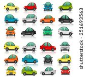 set of car side and front view... | Shutterstock . vector #251693563