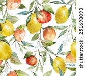 orange  lemon  pattern ...   Shutterstock .eps vector #251698093