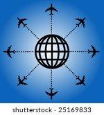 airplane globe design | Shutterstock . vector #25169833