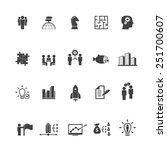 global business icon set | Shutterstock .eps vector #251700607
