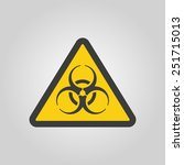 the bio hazard icon.symbol.... | Shutterstock .eps vector #251715013