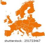 map of europe | Shutterstock .eps vector #251723467