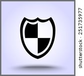 shield sign icons  vector...   Shutterstock .eps vector #251735977