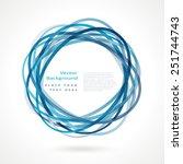 abstract circle frame. vector...   Shutterstock .eps vector #251744743