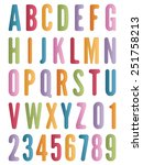 bright alphabet letters and... | Shutterstock .eps vector #251758213