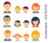 family vector icons | Shutterstock .eps vector #251763733