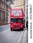old red london bus | Shutterstock . vector #251784817