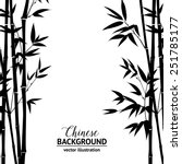 Bamboo Bush  Ink Painting Over...