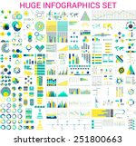 vector mega set of  infographic ... | Shutterstock .eps vector #251800663