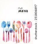 cafe menu card design template. ... | Shutterstock .eps vector #251806897