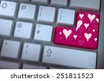 valentines day pattern against... | Shutterstock . vector #251811523