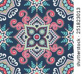 seamless pattern. vintage... | Shutterstock .eps vector #251823013
