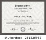 certificate design template.... | Shutterstock .eps vector #251825953
