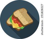 vector sandwich   Shutterstock .eps vector #251828227