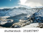 snowdonia mountains in winter...